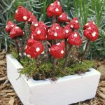Charming fairy garden mushrooms from acorns and twigs!