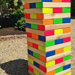 How to make a colorful outdoor giant Jenga game!