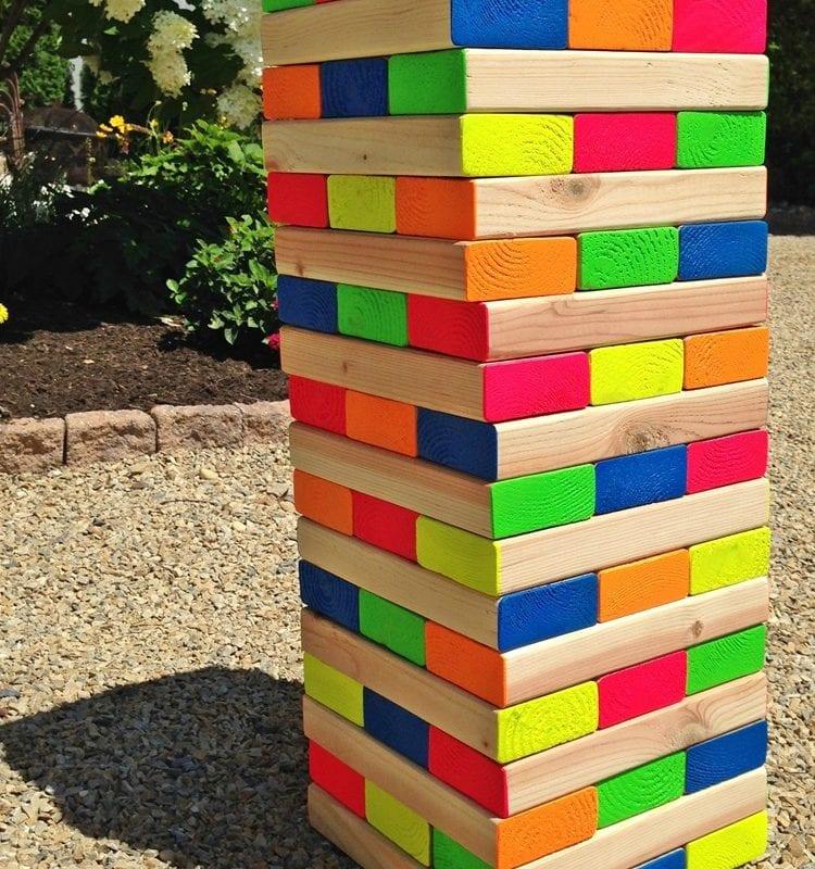 DIY Giant Outdoor Jenga Game