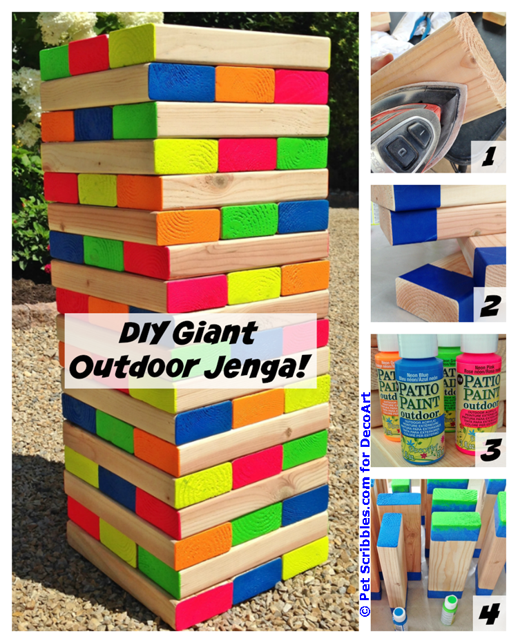 DIY Giant Outdoor Jenga Game