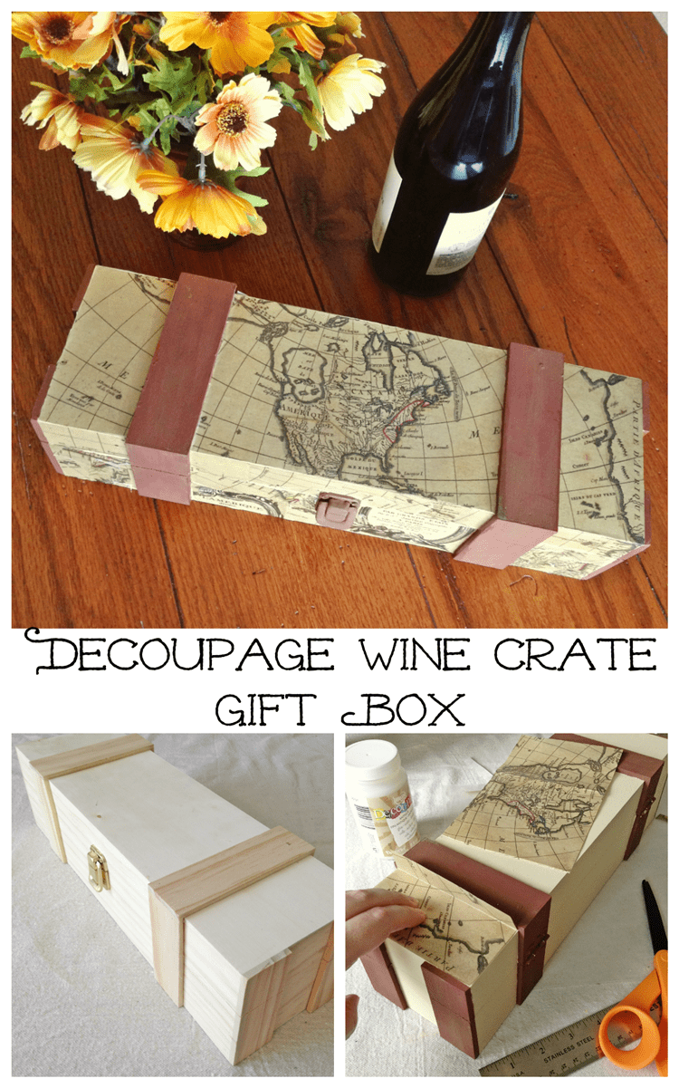 Father's Day Gift: How to Make a Decoupaged Wine Gift Box