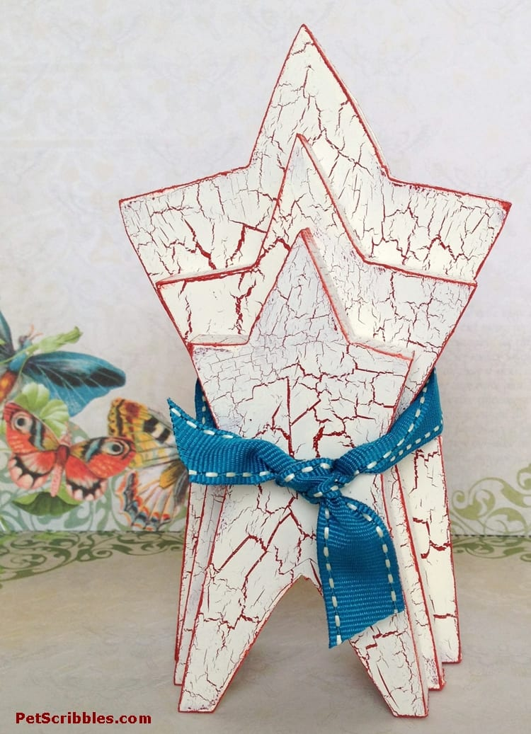 Rustic Painted Wooden Stars