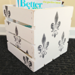 Easy Magazine Storage: how to paint a pretty wooden crate!