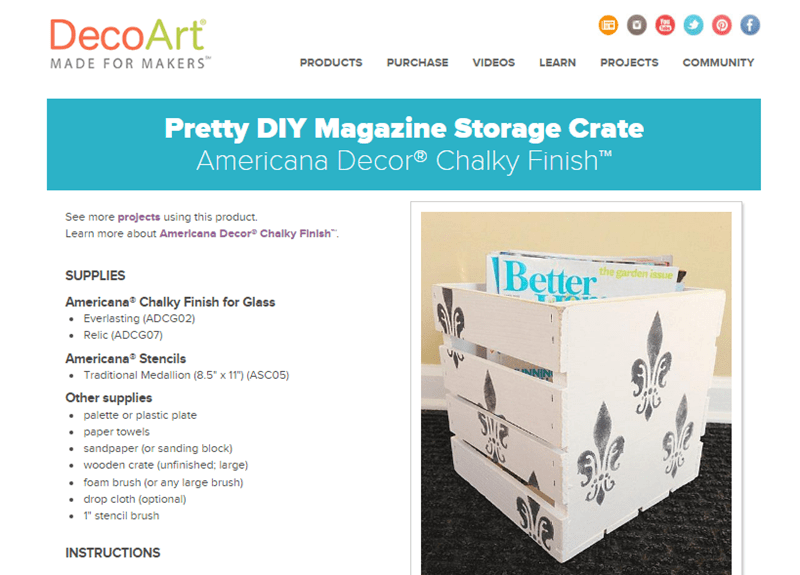 Pretty DIY Magazine Storage Crate