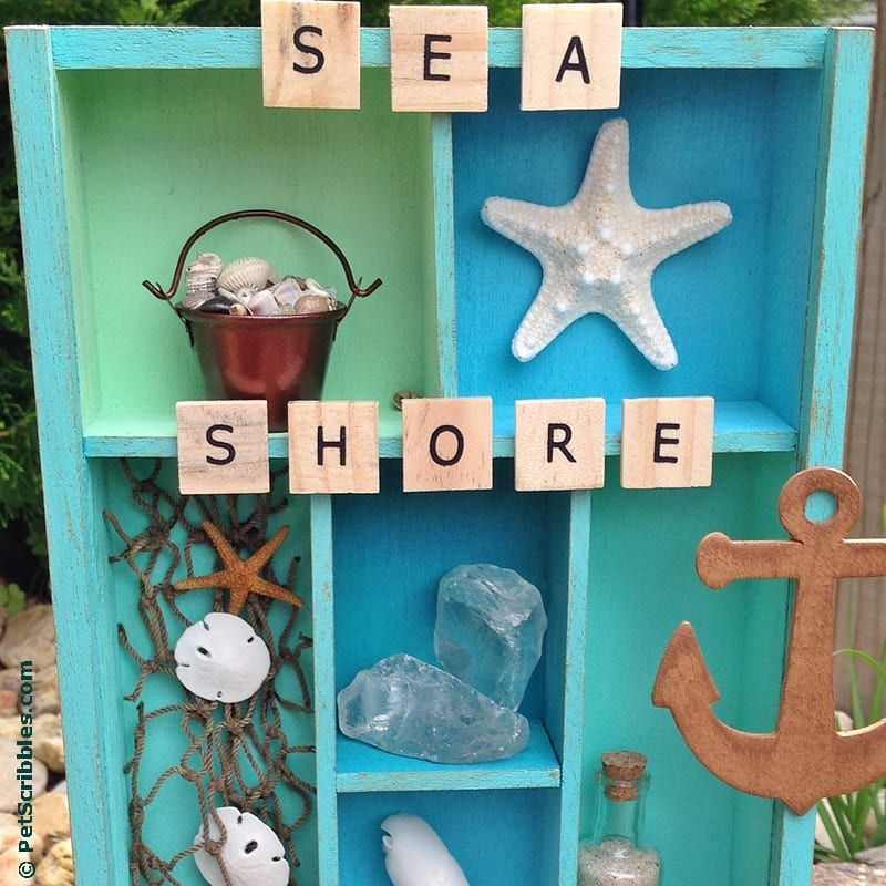 How to Make a Beach Memory Display