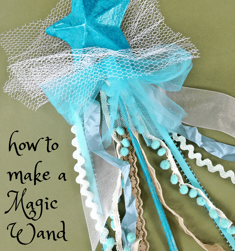 How to make a magic wand...because every girl should have one!