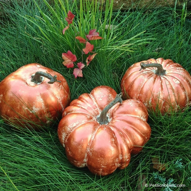 DIY Copper Pumpkins for Fall