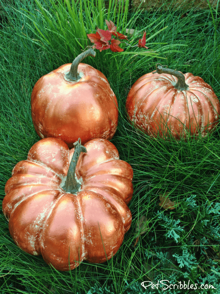 How to Make Copper Pumpkins with Metallic Paint