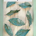 Painted Magnolia Leaves for Fall Decor and Weddings