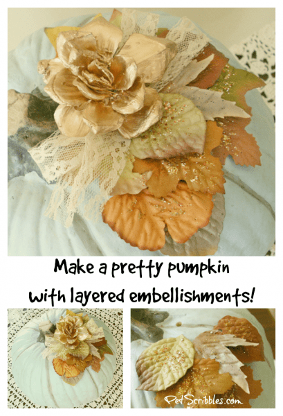 How to make a pretty pumpkin with layered embellishments