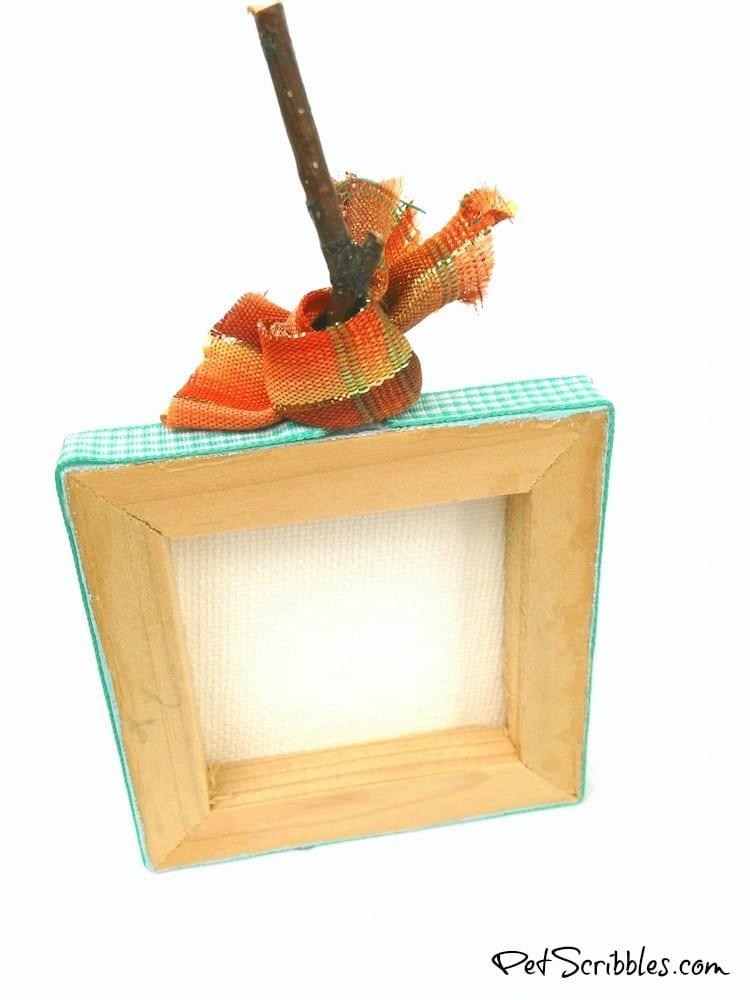 Acorn Craft - make a miniature canvas pumpkin with help from nature!