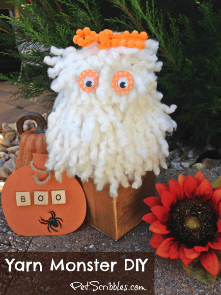 How to Make a Yarn Monster Popcorn Box - an easy DIY!