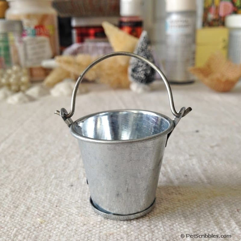 miniature galvanized bucket