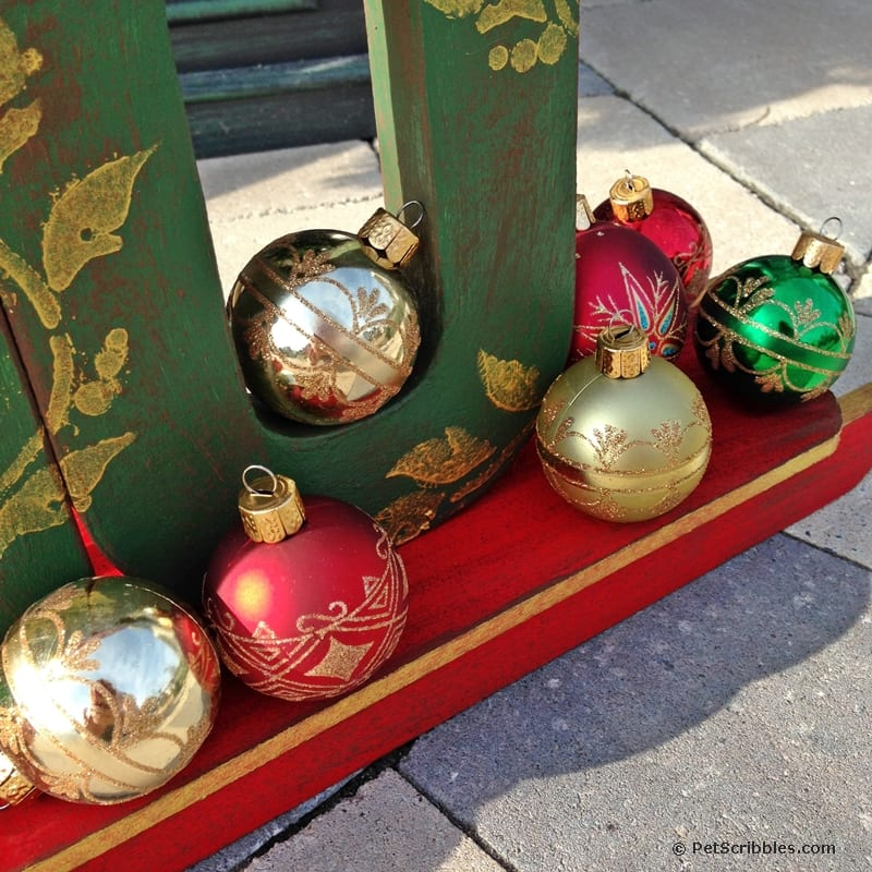 Christmas ball ornaments used outdoors