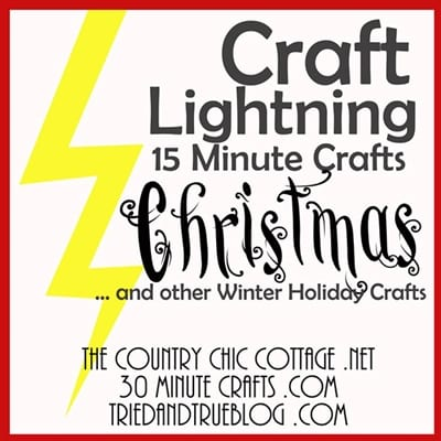 Craft Lightning 2016 Edition of Holiday Crafts that take less than 15 minutes to create!