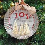 How to make a tart tin Christmas ornament