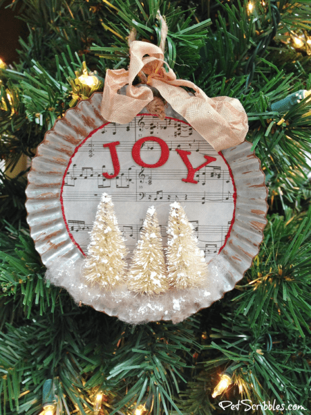 How to make a charming tart tin ornament!