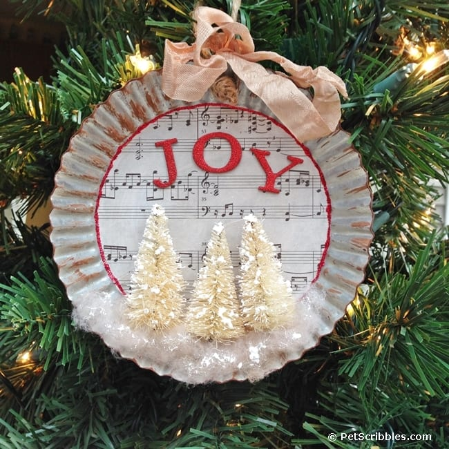 How to make a tart tin Christmas ornament