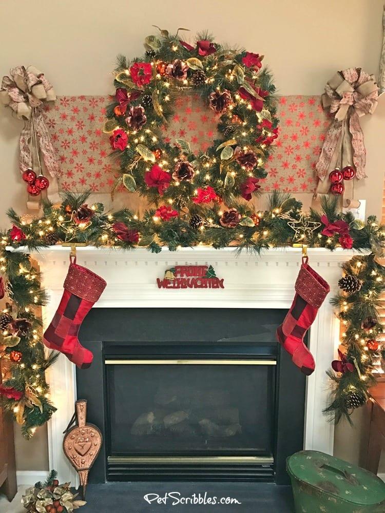 My Christmas Wreath and Garland: elegant, festive, magical!