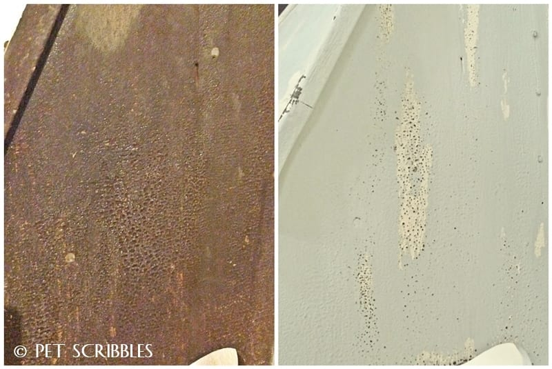 Americana Decor Chalky Finish Paint before and after
