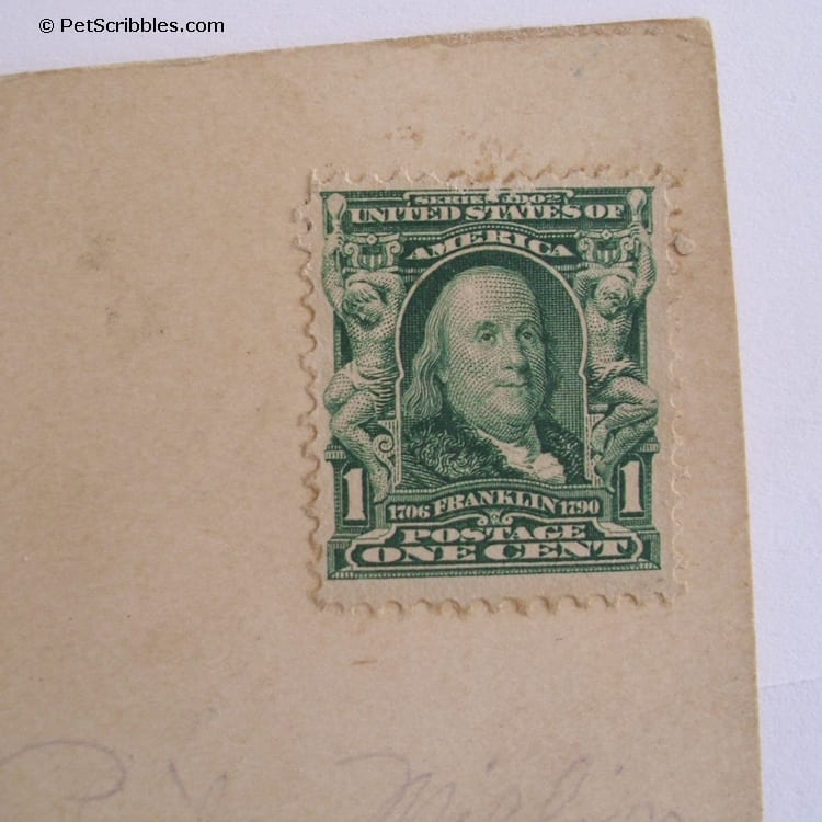 Ben Franklin postage stamp