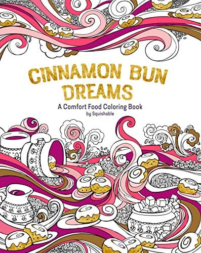 Cinnamon Bun Dreams coloring book