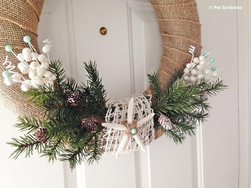 Coastal Winter Holiday Wreath