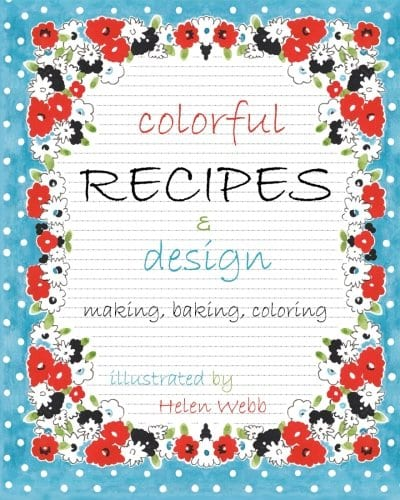 Colorful Recipes and Design coloring book
