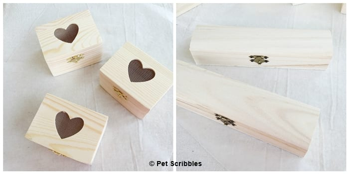 Darice Crafts unfinished wood boxes