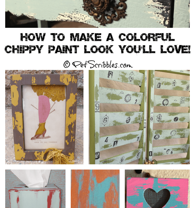 How to make a colorful chippy paint look you'll love! (with 10 examples!)