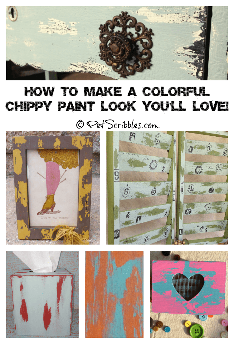 How to make a colorful chippy paint finish you'll love! (with 10 examples!)
