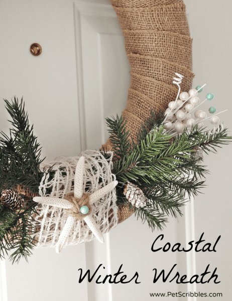 How to make a simple coastal Winter wreath!