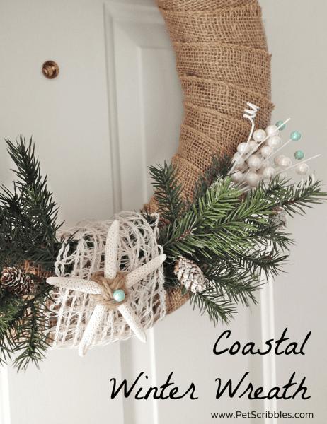 How to make a simple coastal Winter wreath!