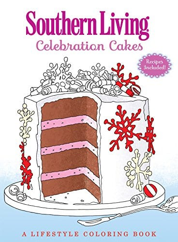 Southern Living Celebration Cakes coloring book