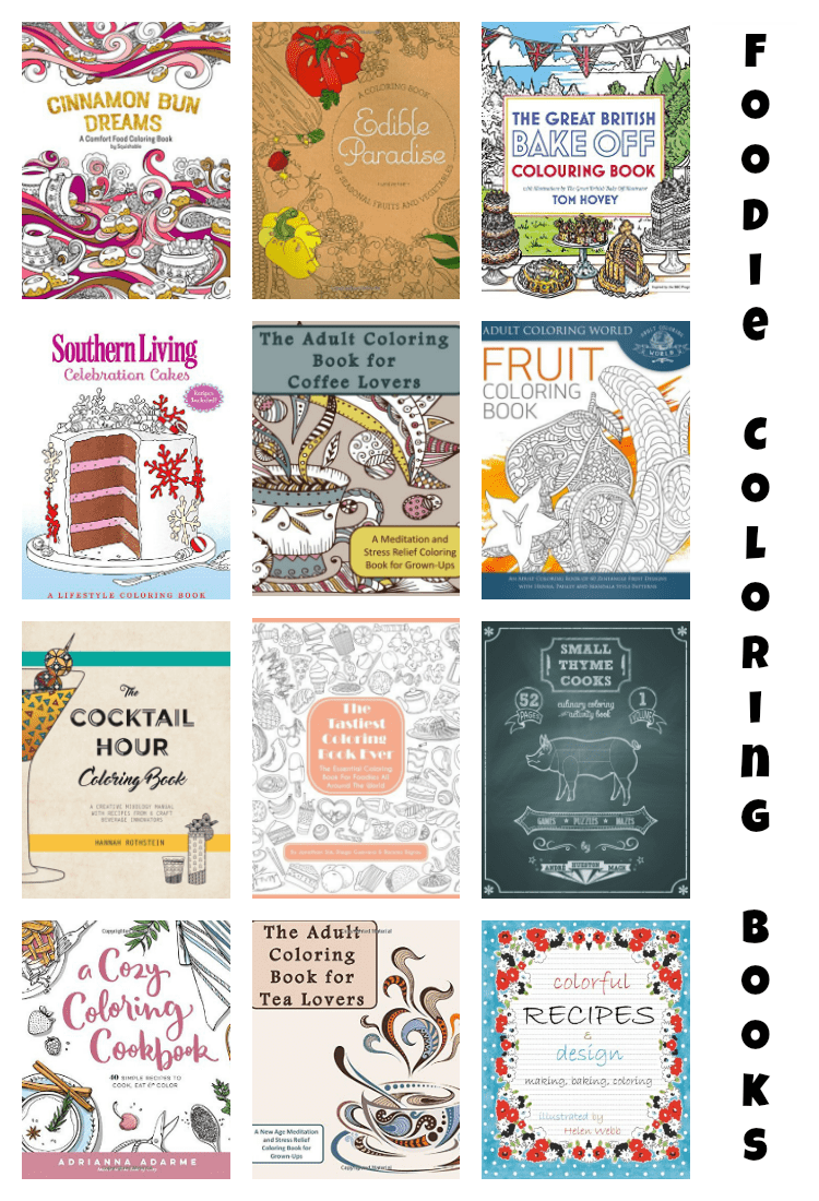 The Best Foodie Adult Coloring Books