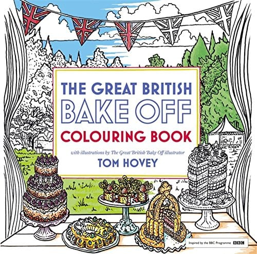 The Great British Bakeoff coloring book