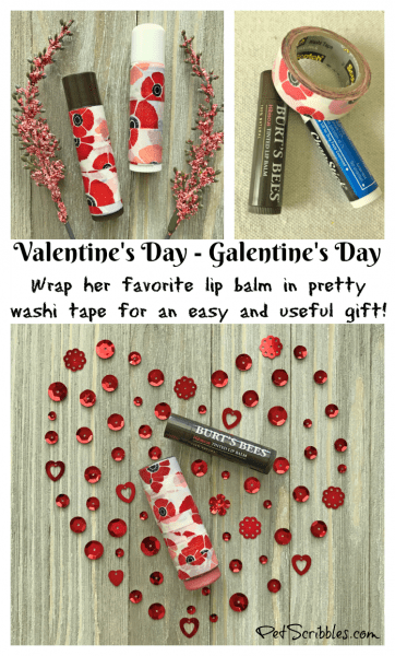 Gift idea: decorate lip balm containers for Valentine's Day or Galentine's Day! Super easy DIY!