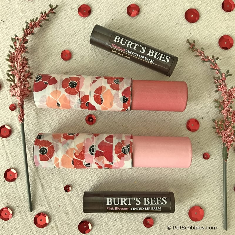 Decorate lip balm with washi tape for a pretty update!