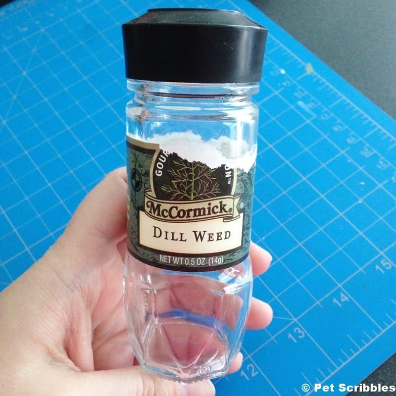 empty spice jar