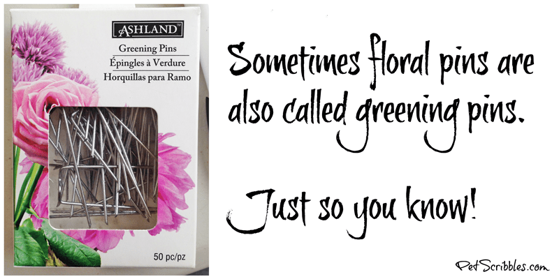 floral pins are the same as greening pins