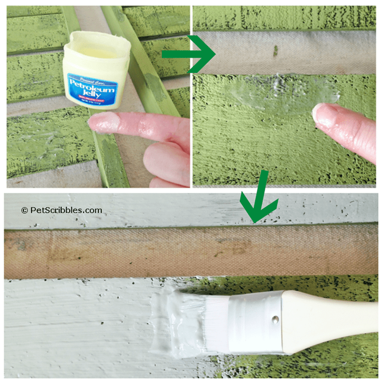 how to fake a chippy paint finish