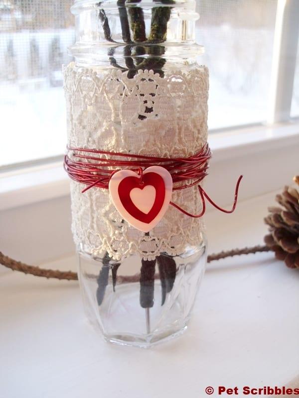 make a spice jar bud vase