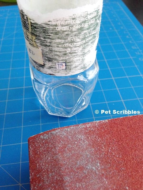 removing spice jar label
