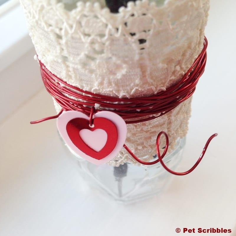 turn a spice jar into a bud vase