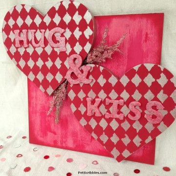 Make This Hug and Kiss Valentine's Day Wall Art!