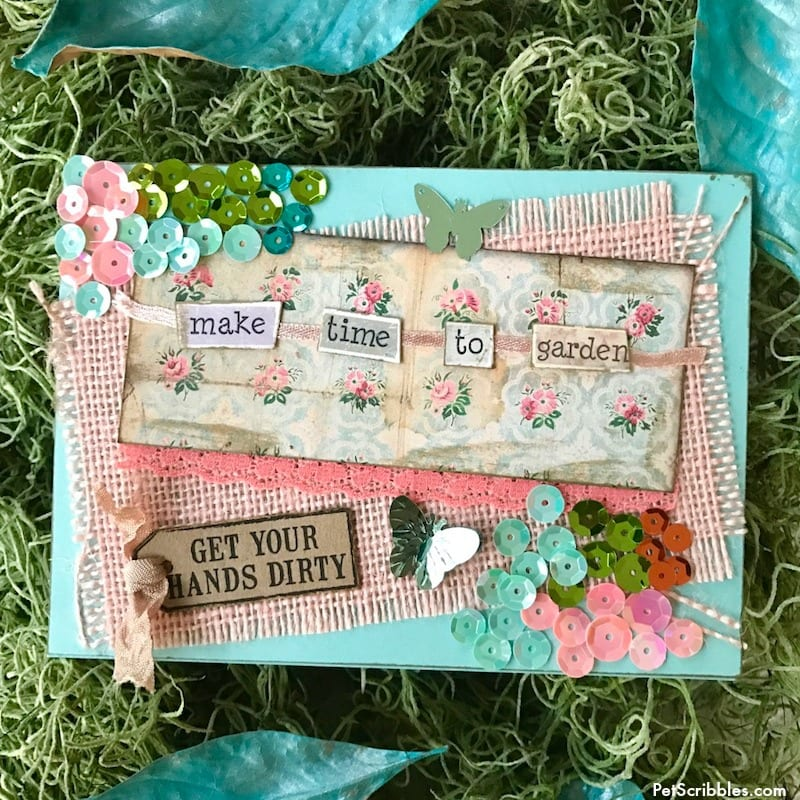 DIY Handmade Card: Time to Garden