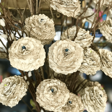 How to make beautiful shabby paper flowers!