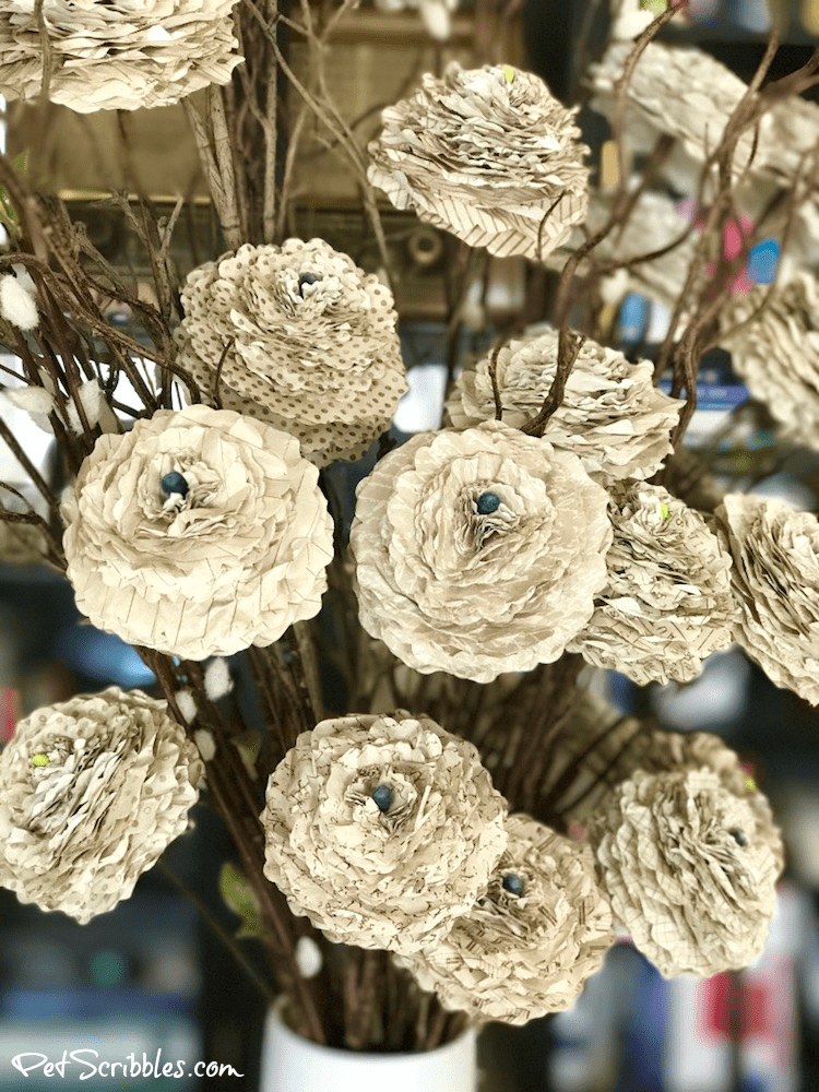 How to make beautiful shabby paper flowers pet scribbles how to make beautiful shabby paper flowers mightylinksfo