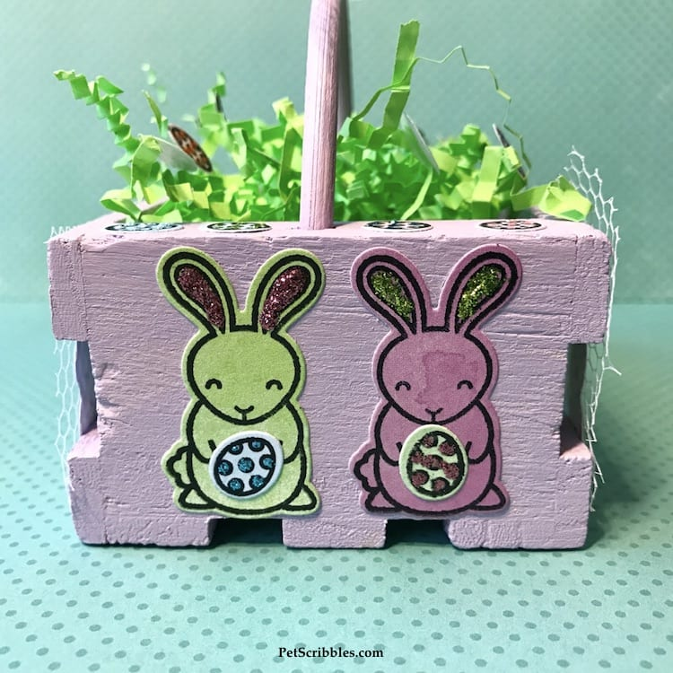 Miniature Easter Basket Craft with Xyron and Lawn Fawn!