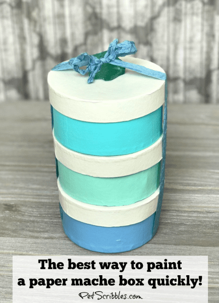 The best way to quickly paint paper maché boxes!